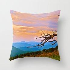 Along Skyline Drive Throw Pillow