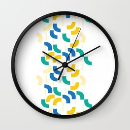 Semi-circles Wall Clock