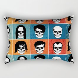 Hairstyles for Skulls Rectangular Pillow