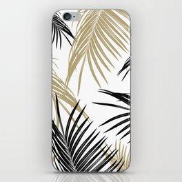 Gold Black Palm Leaves Dream #1 #tropical #decor #art #society6 iPhone Skin