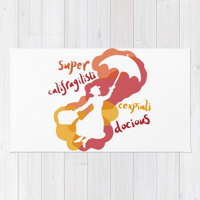 supercalifragilisticexpialidocious rug by dtreadinghole society6