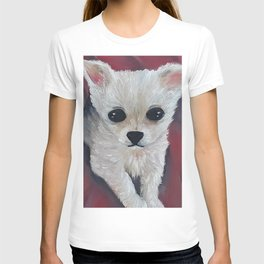 Adorable baby chihuahua, original oil painting by Luna Smith, LuArt Gallery T-shirt