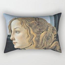 Botticelli - Portrait Of Simonetta Vespucci Rectangular Pillow