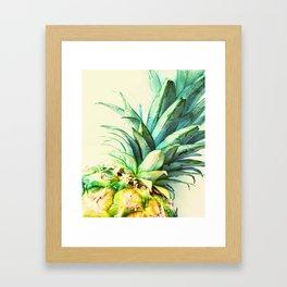 Green Pineapple Framed Art Print