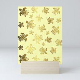 Golden Sea Turtles Mini Art Print