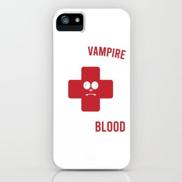 """Save A Vampire Donate Blood"" T-shirt Design Spooky Creepy Halloween Spell Cast Black Magic Curse iPhone Case"