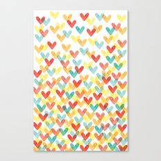 Falling Hearts Canvas Print