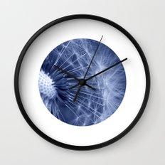 blue dandelion II Wall Clock