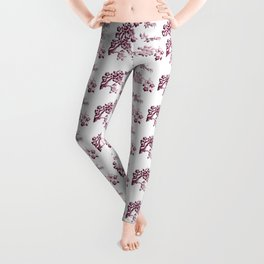 Cherry Blossoms Changeable Background Color Leggings