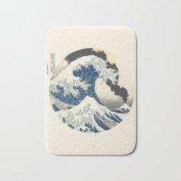Great Wave Off Kanagawa Mount Fuji Eruption Bath Mat