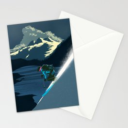 Retro ski Stationery Cards