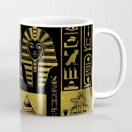 Egyptian  Gold hieroglyphs and symbols collage Coffee Mug