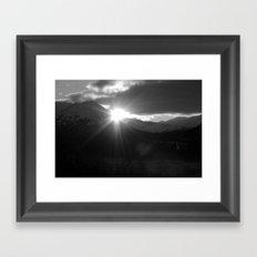 Winter Sunshine B&W Framed Art Print