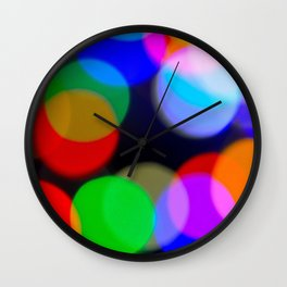 Christmas Bokeh Wall Clock