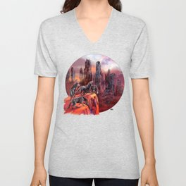 Wolves of Future Past landscape Unisex V-Neck