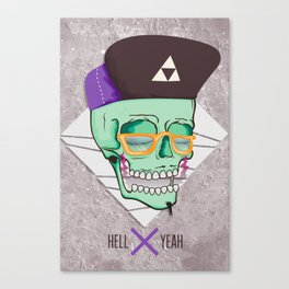 Hell Yeah Skull 3 Canvas Print