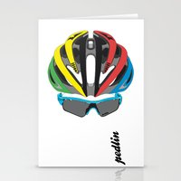 cycling Stationery Cards featuring Cycling Face by Pedlin