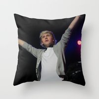 niall horan Throw Pillows featuring Niall Horan by lackofabettername123