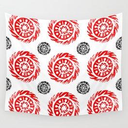 Sun mandala pattern Wall Tapestry
