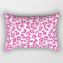 Leopard-Pinks on White Rectangular Pillow