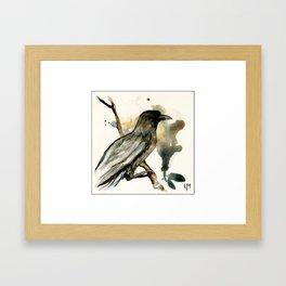 The Watching bird Framed Art Print