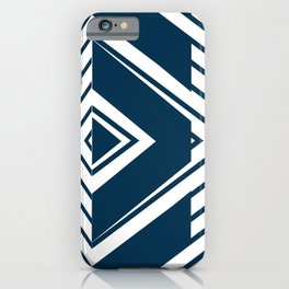 blue triangle chic iPhone Case