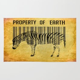 The encoded zebra Rug