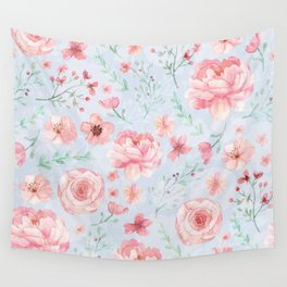 Calm and Sweety Floral Wall Tapestry