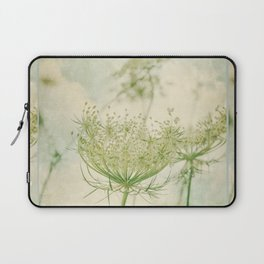 Sanctuary -- White Queen Anne's Lace Meadow Wild Flower Botanical Laptop Sleeve