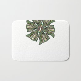 woman with sari mandala Bath Mat