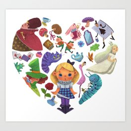 Alice in Wonderland Heart Art Print