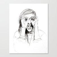 ellie goulding Canvas Prints featuring Ellie Goulding by Sophie Melissa