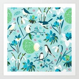 Finally Easter! [blue'n rose] Art Print