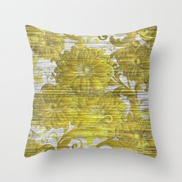 Crappy Old Wallpaper is in Style Now Throw Pillow