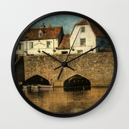 The Bridge At Abingdon Wall Clock