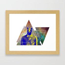 bear with class Framed Art Print