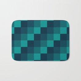 Ocean Waves - Pixel patten in dark blue Bath Mat