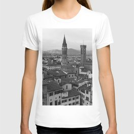 Bologna view point, Italy | Italian streets in Tuscany | Analog photography black and white art print T-shirt