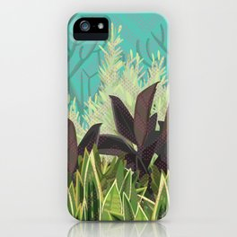 Tropical Desert Illustration  iPhone Case