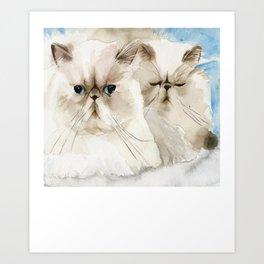 Persian Cat Shirt - Gift For Cat Lovers Art Print
