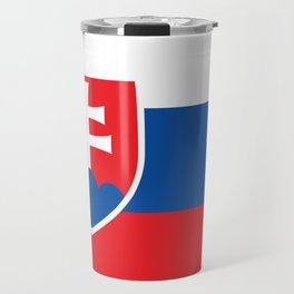 Flag of Slovakia, High Quality Image Travel Mug