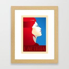 Laetitia Portrait Poster Framed Art Print