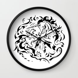 Lion vs Unicorn Wall Clock