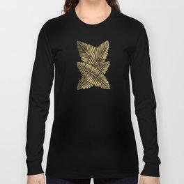 Tropical Banana Leaves – Gold Palette Long Sleeve T-shirt