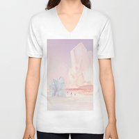minerals V-neck T-shirts featuring Crystal Beach by Natalie Brenner