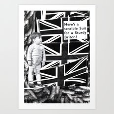 Sturdy young Briton Art Print