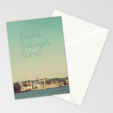 Love Laugh Live Stockholm Stationery Cards