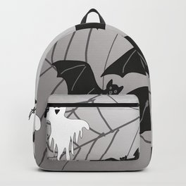 Ghosts and Bats Spiderweb Halloween Backpack