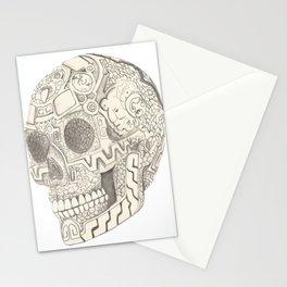 Skull, aztec design Stationery Cards