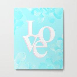 LOVE Design Metal Print